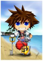 KH: Sora in Destiny Island by Menanie605
