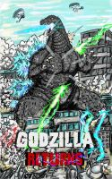 Commission: Godzilla Returns (cover) by Gabe-TKE