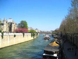 Seine and Notre Dame by mariposa116