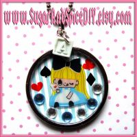 Alice Beat The Queen Necklace by SugarAndSpiceDIY