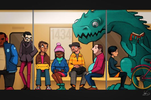 Curious Commute by AGartworks