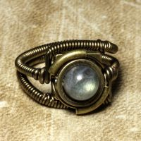 Steampunk ring labradorite 1 by CatherinetteRings