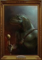 Portrait of a Lizard Lord by Elderscroller