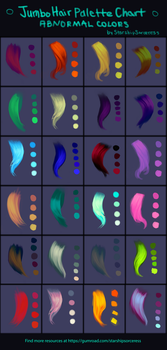 Jumbo Abnormal Hair Palettes Chart by StarshipSorceress