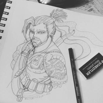 Hanzo - Overwatch Fanart - Traditional by ZulterithCreations