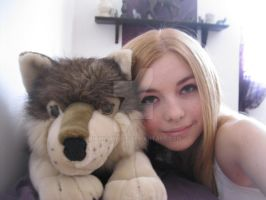 Me with my direwolf (: by NamidaWolf