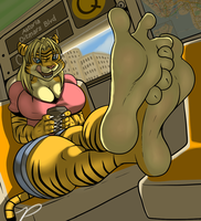 Tigress Feet (Alt) by zp92