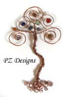 Whimsical Tree of Life Ornament by PurlyZig