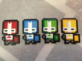 -Perler- Castle Crashers (Group) by OtakuLuka