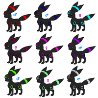 Umbreon Adoptables -CLOSED- by Libra-Dragoness