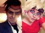 Handsome Jack and Tiny Tina Makeup Test by xHee-Heex