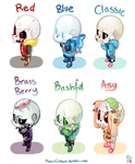 Undertale Chibis Finished! by Pomeli-chan