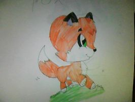 drawing of a fox by sweetcookie34