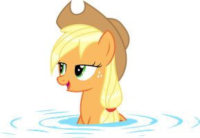 Wet Mane Applejack 2 by Kishmond