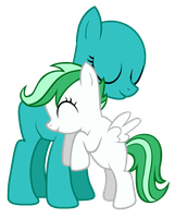 Minty Hugging Somepony - Open Collab by nuazka