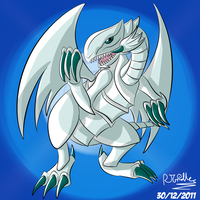 Blue-Eyes White Dragon by RJGrid