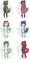 Chibi adopt pack 02 - two left by lfraysse