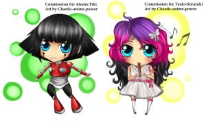 Chibi commission batch 1 by Chao-Illustrations