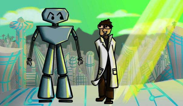 The Scientist and Friend Concept Art by Lilproject