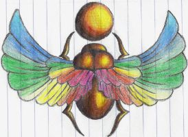 Feathered Scarab by YETIbeast