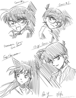 Detective Conan Sketches by anonamos701