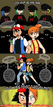 Pokeshipping Week 2016- Protecting Each Other by Da-Wabbit