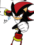 Shadow the Hedgehog (colored) by Sonicandtails28