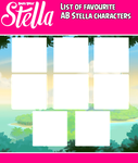List Of Favourite AB Stella Characters Meme by TBalazs2000