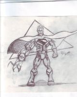 concept drawing : cyborg super by danny2069