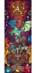 Outcast Odyssey - Stain glass 1 by tea-tiger