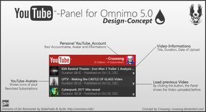 YouTube-Panel - Concept Design for Omnimo by Crussong