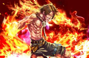 Portgas D. Ace by longai