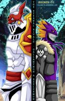 Gallantmon and Beelzemon by Digimon-FR