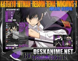 Hibari Kyoya Theme Windows 7 by Danrockster