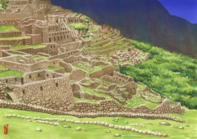 Machu Picchu by toniart57