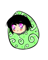 Yumi in a egg (?) by JulieFF