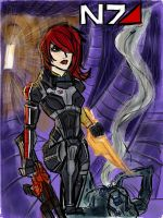 Commander Shepard by patoftherick