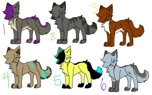 Cat Adoptables! OPEN by Riaka-the-Cat