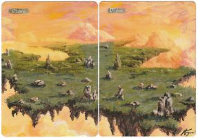 Plains 2-Card Panorama - MtG Alter by closetvictorian