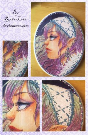 Pastel Elf Plaque- SOLD by Roots-Love