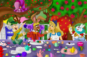 Alice and Some Familiar Friends colored by Lubie-Lu
