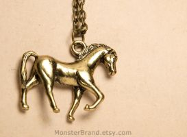 Little Horse Necklace by foowahu-etsy
