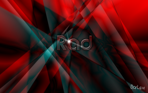 red abstract wallpaper by BarLevi