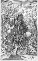 The Nazgul pencil commission by surfercalavera