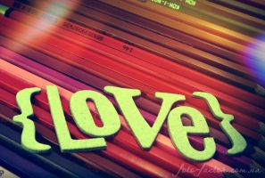colourful words. Love by blackflycat