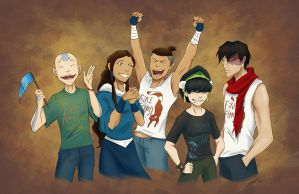 Korra Fans by rice-claire