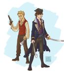 Captain Holmes and First Mate John Watson by xXDeath-N-HellXx