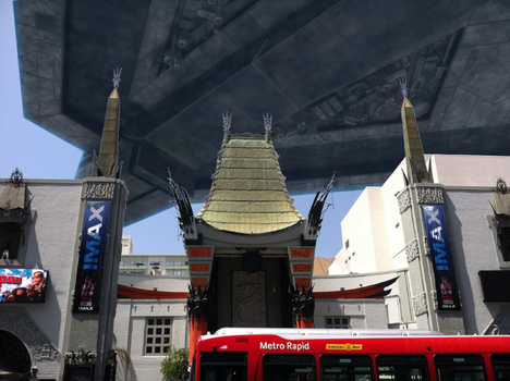 Alien ship over the TCL Chinese Theatre! by ArceusofDoom