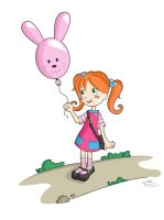 Bunny balloon by Giudy-chan