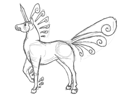 Equestaron character concept sketch by CrystalCircle